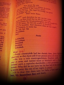 Page selected at random from my copy of Ulysses