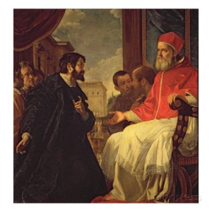 Michelangelo and Pope Julius II on a good day.
