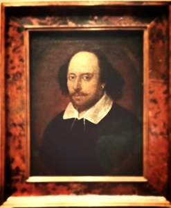 Shakespeare, my friend.  (The Chandos Portrait in the National Portrait Gallery, London.  This was the first portrait in the museum's entire collection, the one that started it all.  Appropriate.)