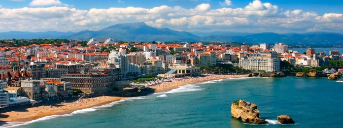 Biarritz.  Swanky French beach town.