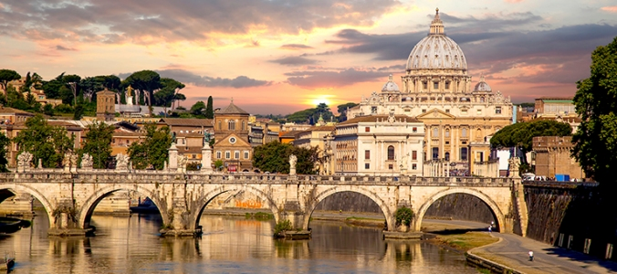"Rome, Italy.  ""The Eternal City."" All roads lead here, and it wasn't built in a day."